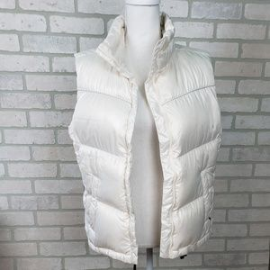 Columbia Puffer Vest LG Pearl White